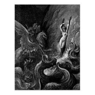 Ruggiero Rettungs-Angelika durch Gustave Doré Postkarte