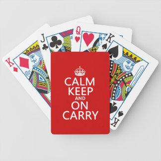 Ruhe behalten und auf Carry - alle Farben Bicycle Spielkarten