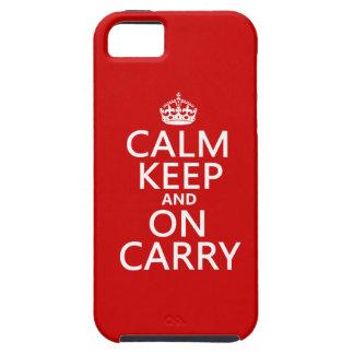 Ruhe behalten und auf Carry - alle Farben iPhone 5 Etui
