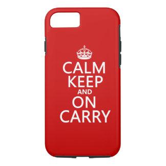 Ruhe behalten und auf Carry - alle Farben iPhone 8/7 Hülle