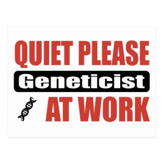 Ruhe-bitte Genetiker bei der Arbeit Postkarte