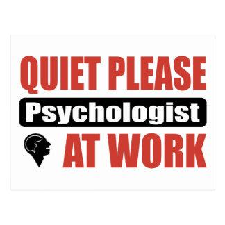 Ruhe-bitte Psychologe bei der Arbeit Postkarte