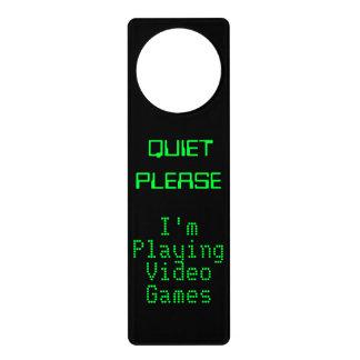 RUHE BITTE spiele ich Videospiel-Tür-Zeichen