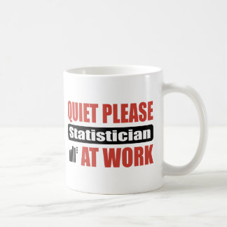 Ruhe-bitte Statistiker bei der Arbeit Kaffeetasse