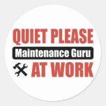 Ruhe-bitte Wartung Guru bei der Arbeit Sticker