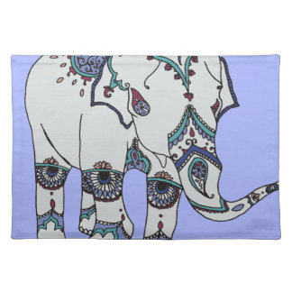 Ruhe Boho Elefant Stofftischset