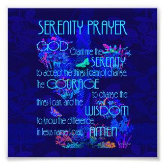 Ruhe-Gebet im Blau Fotodruck