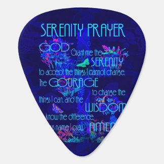 Ruhe-Gebet im Blau Plektron