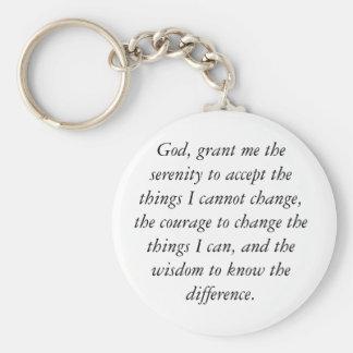 Ruhe-Gebet Keychain, einfach u. sauber Schlüsselanhänger