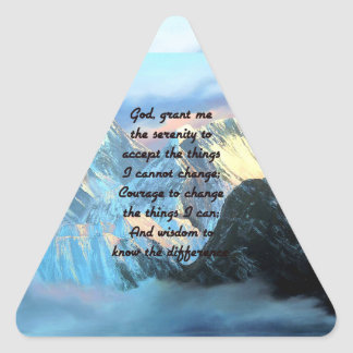 Ruhe-Gebet mit Panoramablick-Mount Everest Dreieckiger Aufkleber