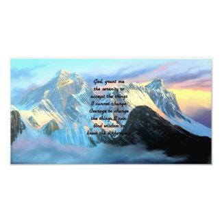 Ruhe-Gebet mit Panoramablick-Mount Everest Fotodruck