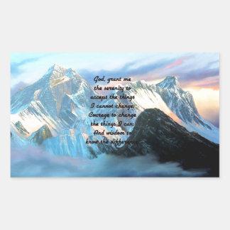 Ruhe-Gebet mit Panoramablick-Mount Everest Rechteckiger Aufkleber