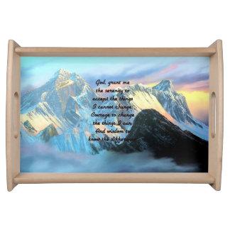Ruhe-Gebet mit Panoramablick-Mount Everest Serviertablett