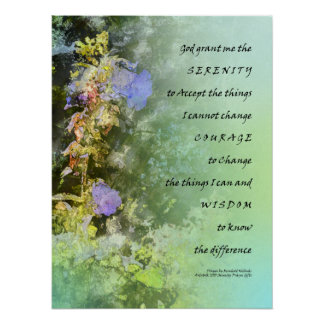Ruhe-Gebetcampanula-Glockenblumen-Druck Poster