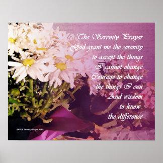Ruhe-Gebets-Gänseblümchen Poster