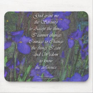 Ruhe-Gebets-Iris Mousepad