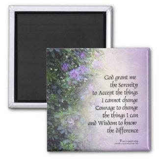 Ruhe-Gebets-Rhododendren und Nebenfluss Quadratischer Magnet