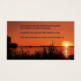 Ruhe-Gebets-Sonnenuntergang Visitenkarte