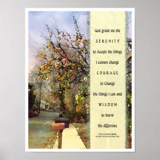 Ruhe-Gebets-Straßen-Szenen-Plakat Poster
