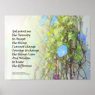 Ruhe-Gebets-Winden und Zaun Poster