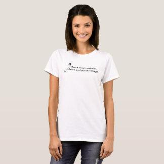 """""""Ruhe ist nicht Neutralität"""" u. Sicherheit-Button T-Shirt"""