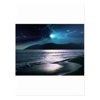 Ruhe-StrandMoonrise Postkarte