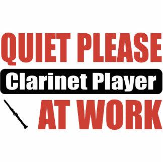 Ruhebitte Clarinet-Spieler bei der Arbeit Foto Figuren