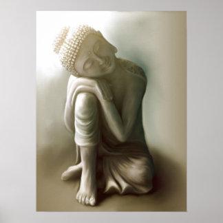 Ruhender Buddha Poster