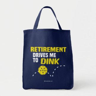"""""""Ruhestand fährt mich Dink"""" Pickleball zur Tragetasche"""