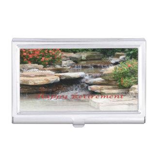 Ruhestands-Garten-Wasserfall-Visitenkarte-Halter Visitenkarten-Schatullen