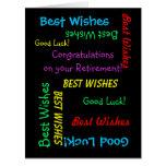 Ruhestands-Glückwünsche von allen uns, RIESIG Grußkarten