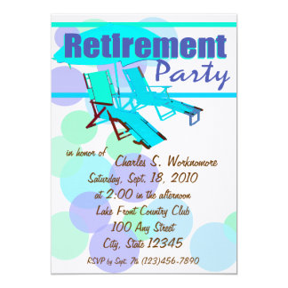 Ruhestands-Partei-Klubsessel 12,7 X 17,8 Cm Einladungskarte