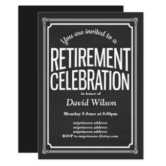 Ruhestands-Party Einladung, Tafelhintergrund Karte