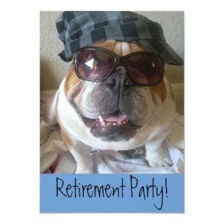 Ruhestands-Party Einladungs-Englisch-Bulldogge 12,7 X 17,8 Cm Einladungskarte