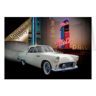 Ruhestands-Party Einladungs-Klassikerauto Grußkarte