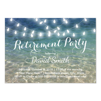 Ruhestands-Party-Schnur beleuchtet tropischen Karte