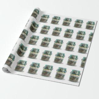 Ruhestandsmünzen im Weckglas Geschenkpapier