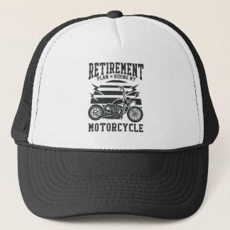 Ruhestandsplan, der mein Motorrad reitet Truckerkappe