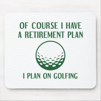 Ruhestandsplan-Golf spielen Mousepad