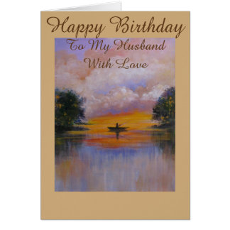Ruhige Ansicht, Geburtstagsgrußkarte für Ehemann Grußkarte
