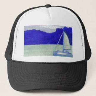 Ruhige einfache segelnde CricketDiane Ozean-Kunst Truckerkappe