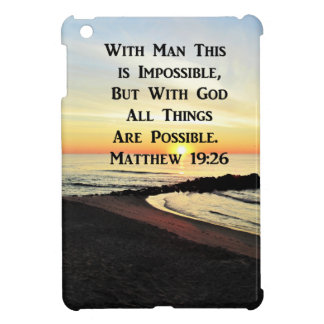 RUHIGE MATTHEW-19:26 SONNENAUFGANG-SCHRIFT iPad MINI HÜLLE