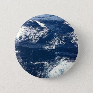 Ruhige Ozean-Wellen Runder Button 5,7 Cm