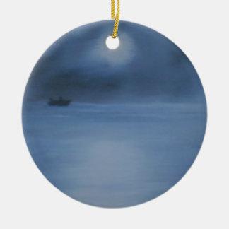 ruhige Ozeannacht allein Keramik Ornament