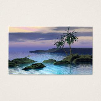Ruhige Palmen - Geschäfts-Größe Visitenkarte