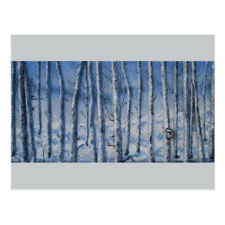 Ruhige Schneefälle durch feinen Künstler Alison Postkarte