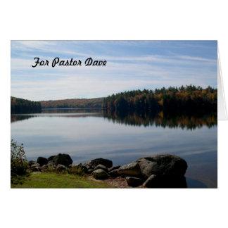 Ruhige See-Fotografie-Pastor-Anerkennung Karte