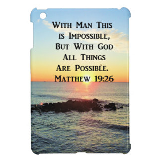 RUHIGE SONNENAUFGANG-MATTHEW-19:26 SCHRIFT iPad MINI HÜLLE