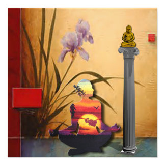 Ruhiger Meditations-Raum Fotodruck