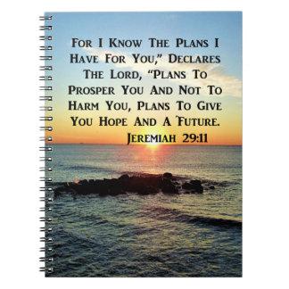 RUHIGER SONNENAUFGANG-JEREMIAS-29:11 SPIRAL NOTIZBLOCK
